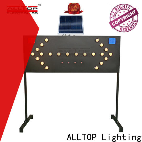 ALLTOP double side solar powered traffic light system factory for police