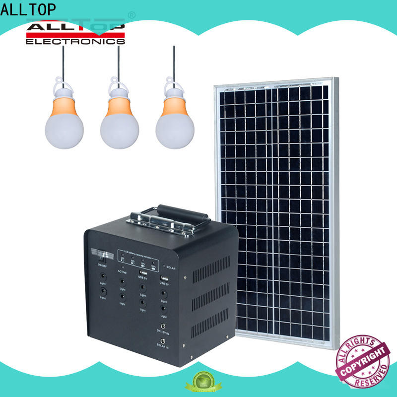 ALLTOP multi-functional small solar lighting system directly sale for home