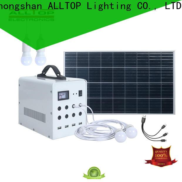 portable solar panel home lighting system series for battery backup