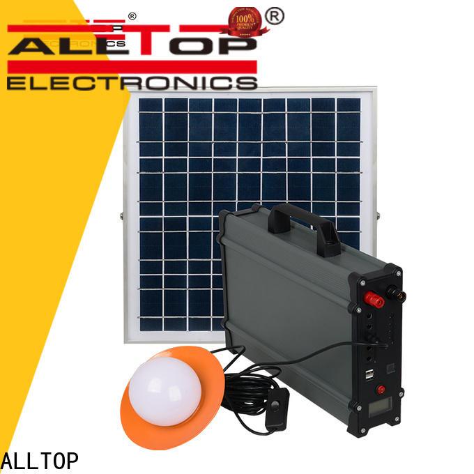ALLTOP energy-saving solar led lighting kit system series for camping