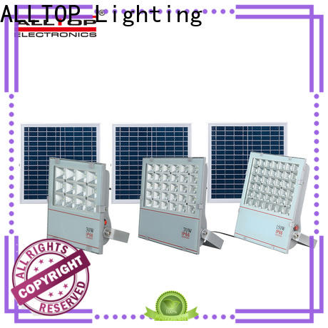 ALLTOP rechargeable solar powered outdoor flood lights company for stadium