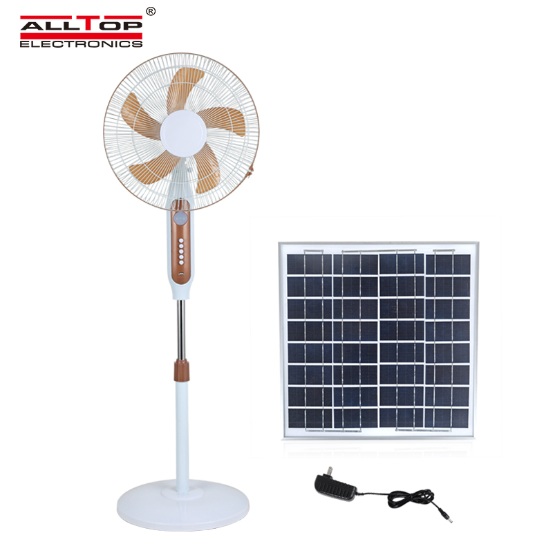 product-ALLTOP 16 inch rechargeable solar table fan with solar panel-ALLTOP -img