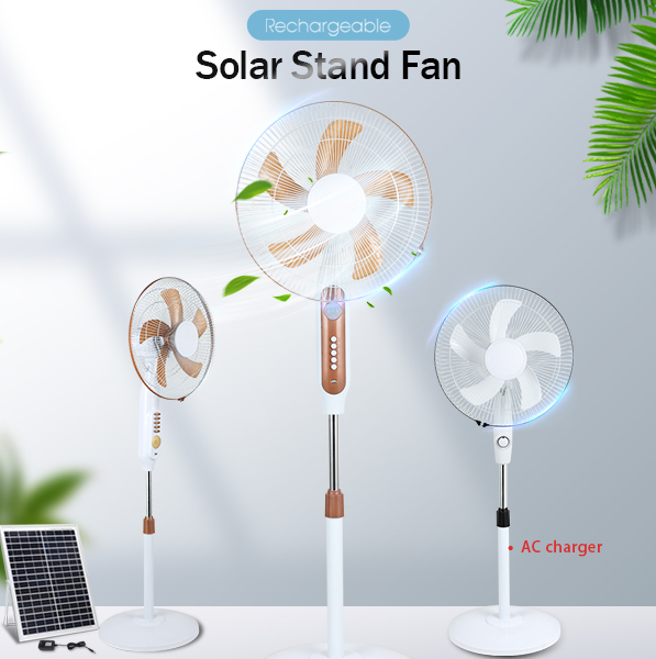 product-ALLTOP -ALLTOP 16 inch rechargeable solar table fan with solar panel-img