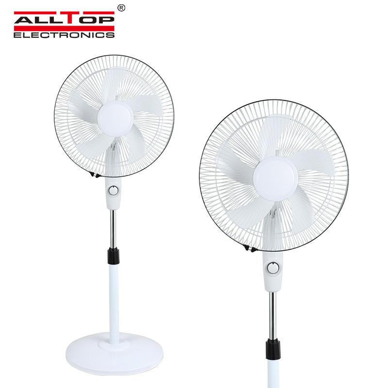 ALLTOP Hot sale rechargeable solar fan 16 inch 12v dc stand fan