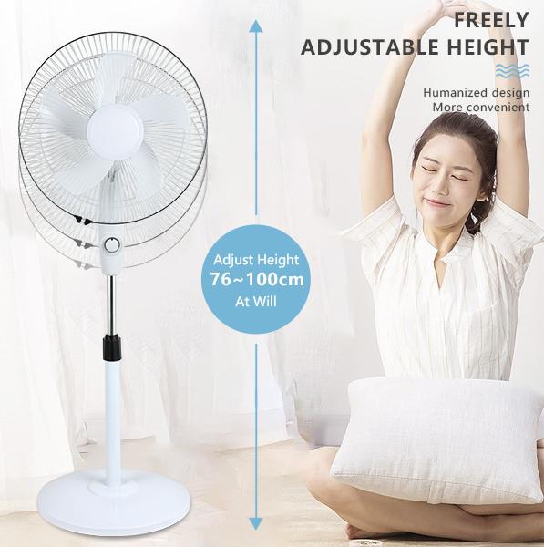 product-ALLTOP -ALLTOP Hot sale rechargeable solar fan 16 inch 12v dc stand fan-img