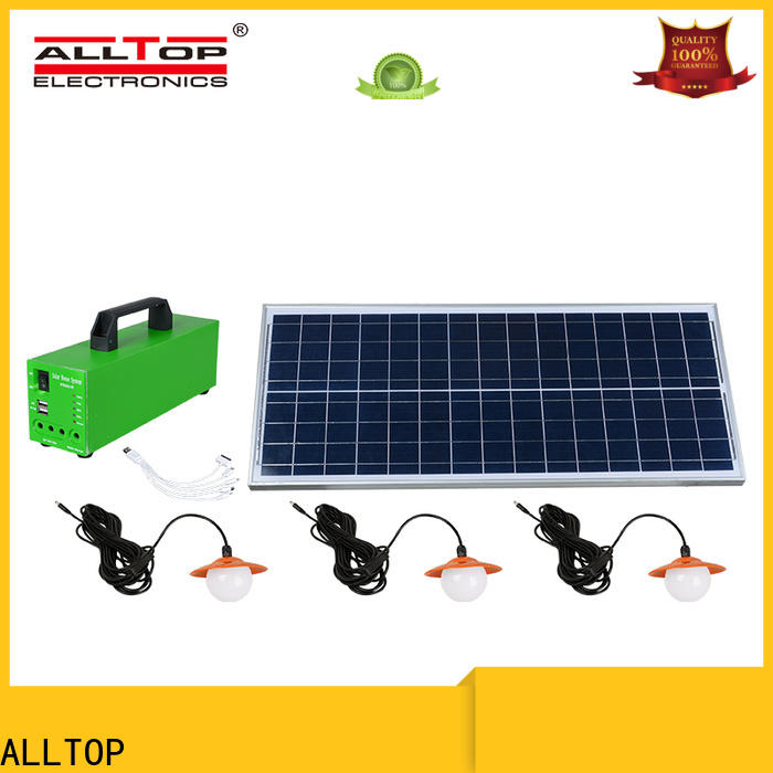 ALLTOP abs solar dc lighting system directly sale for outdoor lighting