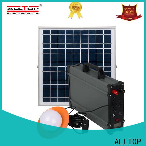 ALLTOP multi-functional solar dc home lighting system manufacturer for battery backup
