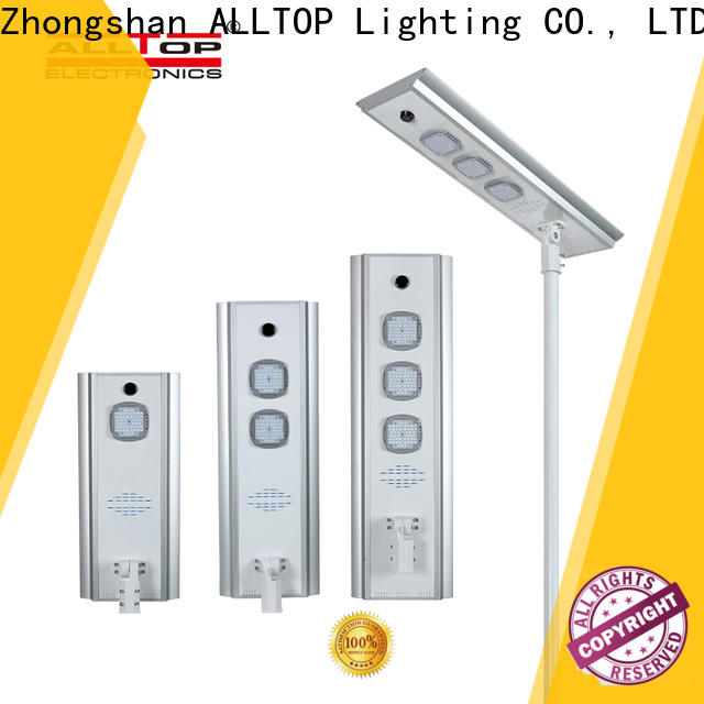 ALLTOP energy-saving solar led street light with pole with good price for garden