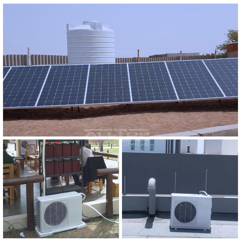 DC 48V 100% off grid solar power air conditioner in hybrid solar air conditioners