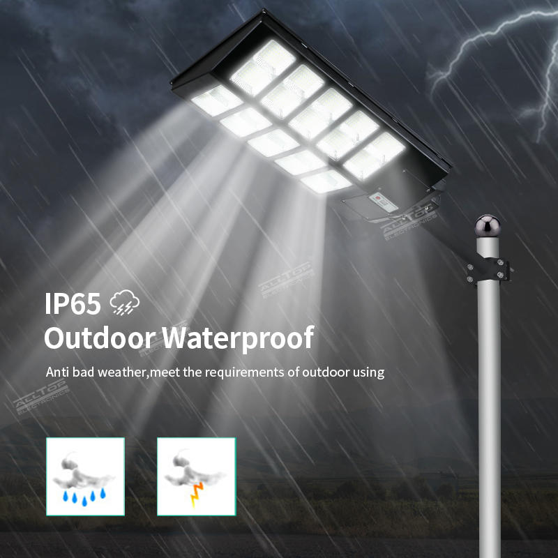 ALLTOP High Lumens Outdoor Waterproof Ip65 Abs 1000w 1500w 2000w Integrated All In One Solar Led Street Light