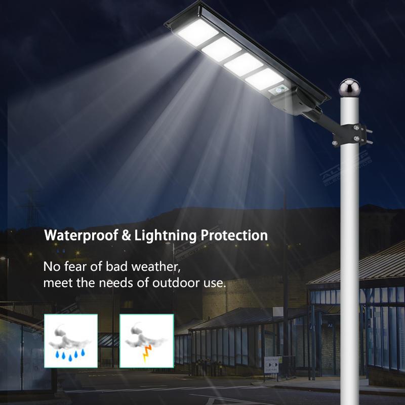 ALLTOP New design Aluminum outdoor IP65 waterproof All In One Led Solar Street Light