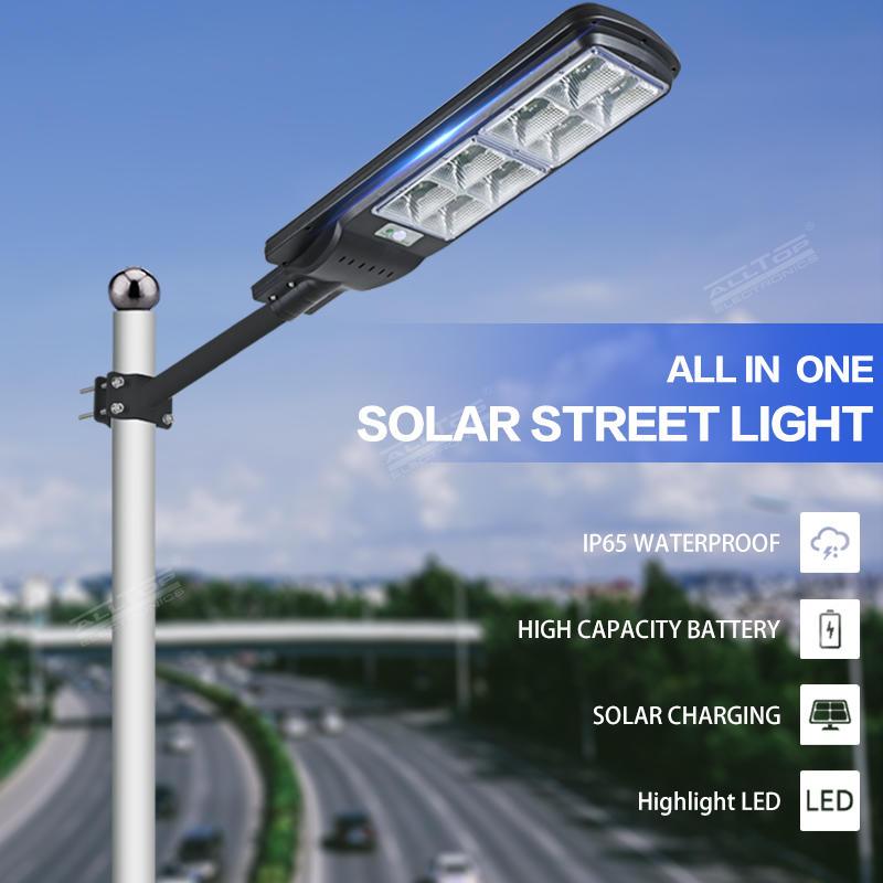 ALLTOP High Brightness IP65 Waterproof Garden  Outdoor All In One Solar LED Street Light