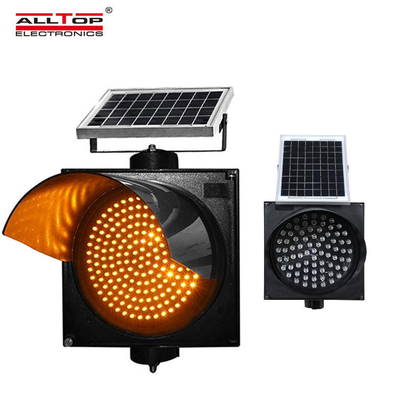 ALLTOP LED road safety flashing warning light Solar traffic light