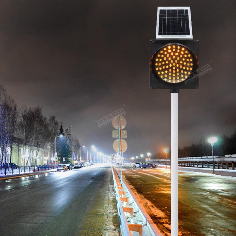 product-ALLTOP -ALLTOP LED road safety flashing warning light Solar traffic light-img