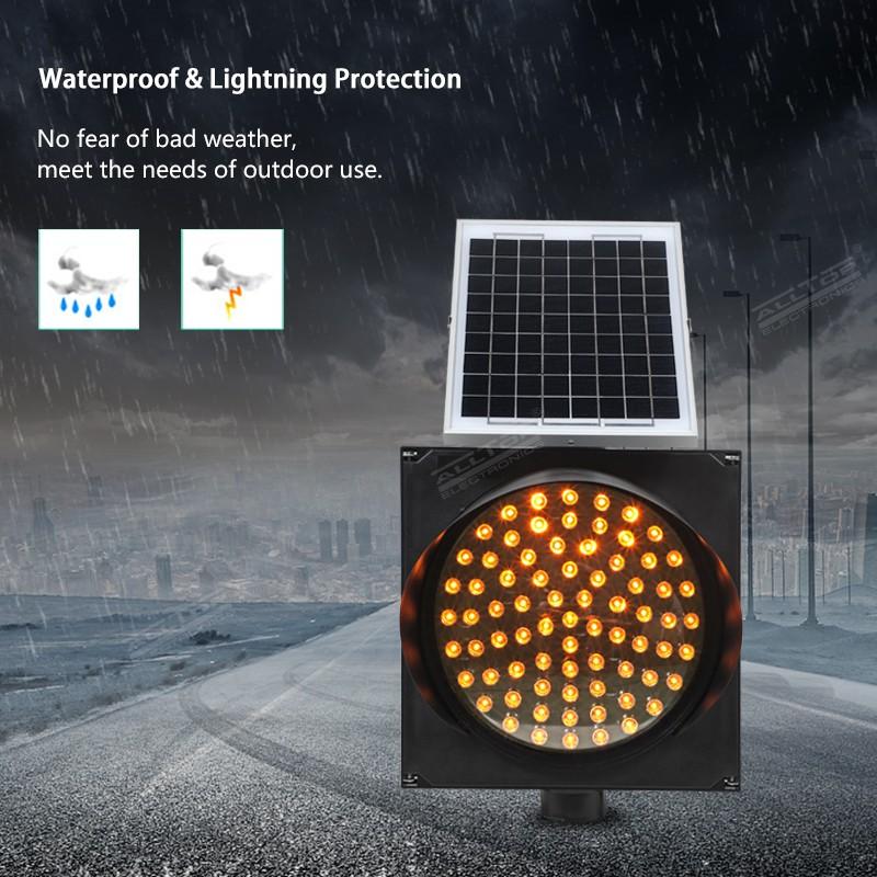 product-ALLTOP LED road safety flashing warning light Solar traffic light-ALLTOP -img