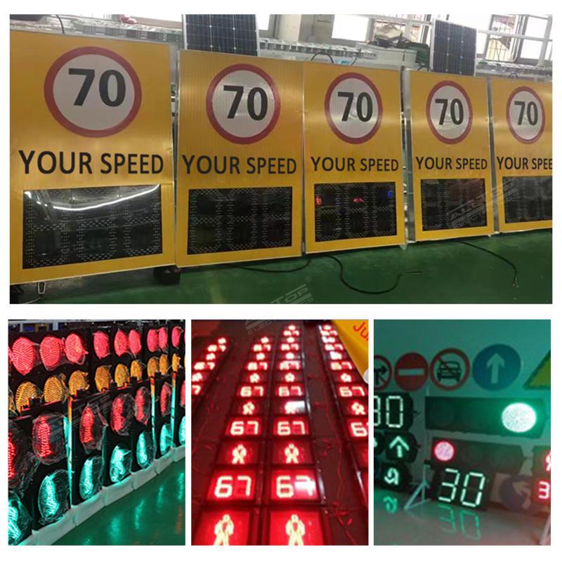 ALLTOP Radar sensor Radar Sign Detective Speed Warning Solar Speed Measurement Display Enhanced Traffic Flashing Speed Limit Signs