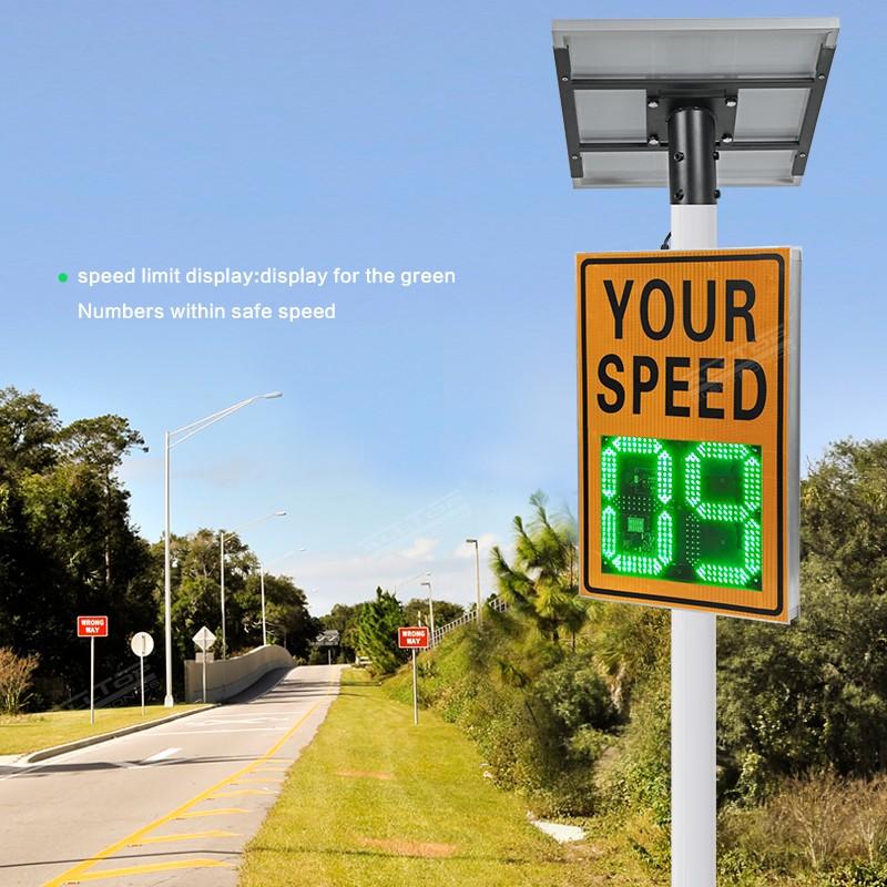 product-ALLTOP Radar sensor Radar Sign Detective Speed Warning Solar Speed Measurement Display Enhan