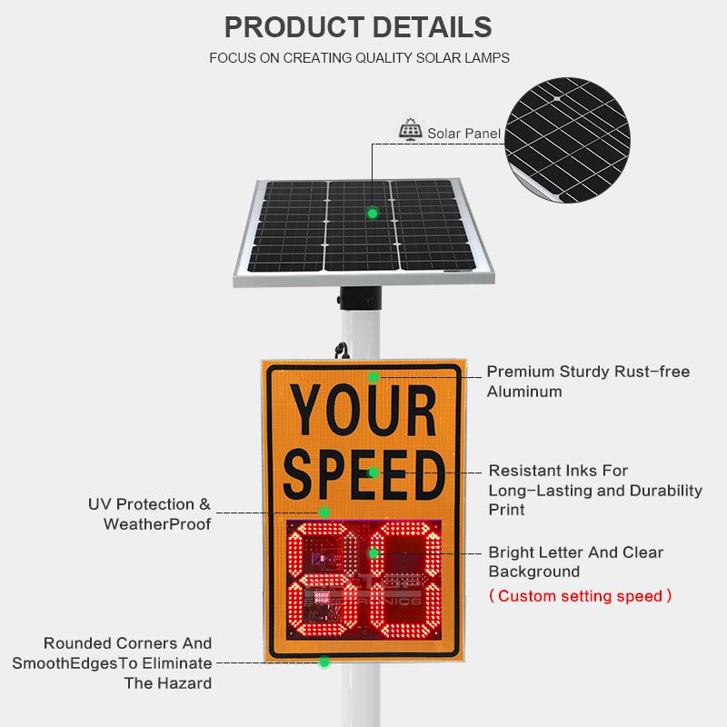 product-ALLTOP -ALLTOP Radar sensor Radar Sign Detective Speed Warning Solar Speed Measurement Displ-1