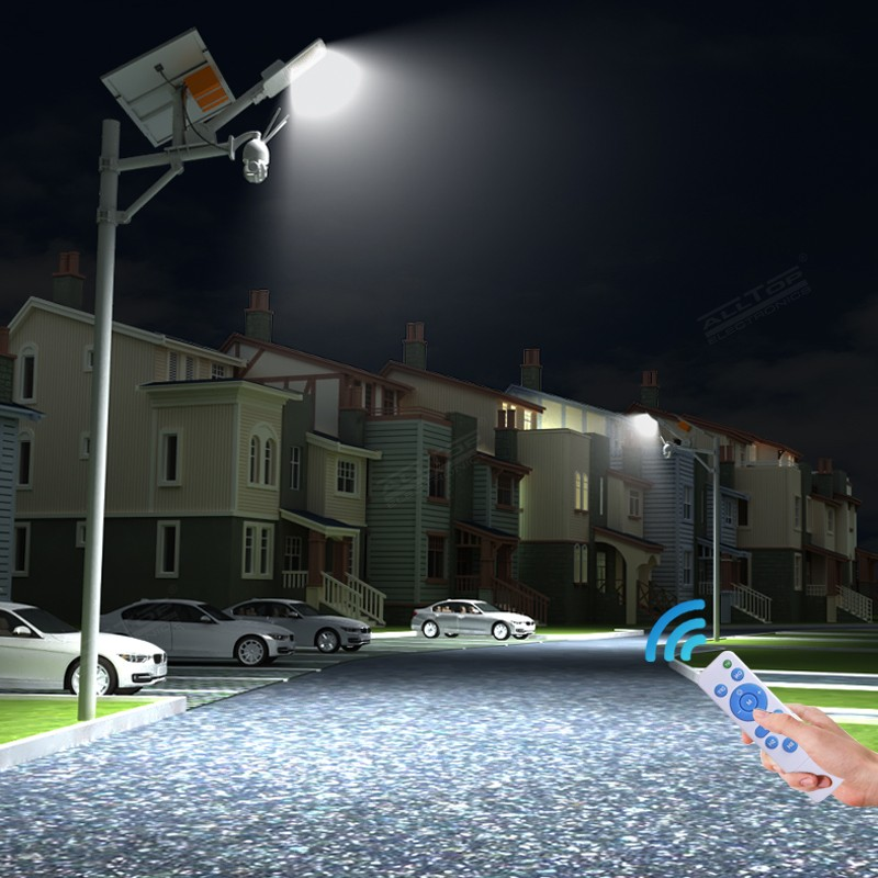 product-ALLTOP -Alltop Remote Wireless Control 80w Solar Street Light with Wifi Cctv Camera-img-1