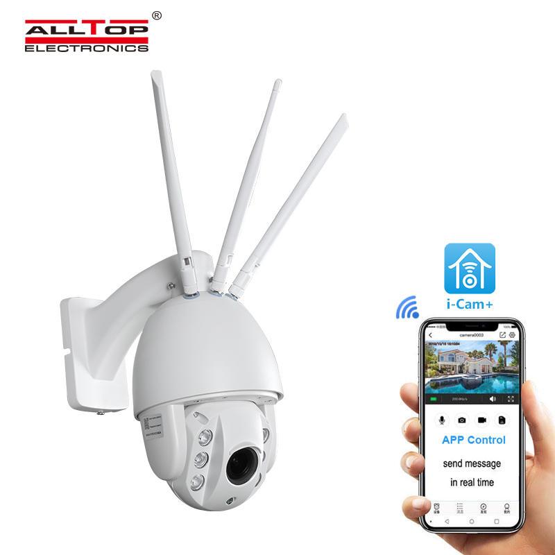 ALLTOP Remote Wireless Control 80w Solar Flood Light With Wifi CCTV Camera