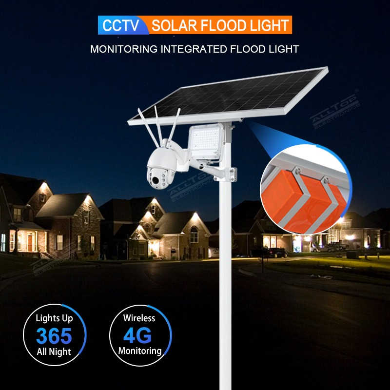 product-ALLTOP Remote Wireless Control 80w Solar Flood Light With Wifi CCTV Camera-ALLTOP -img