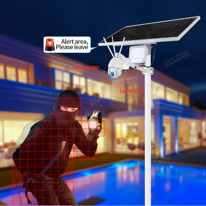 product-ALLTOP -ALLTOP Remote Wireless Control 80w Solar Flood Light With Wifi CCTV Camera-img