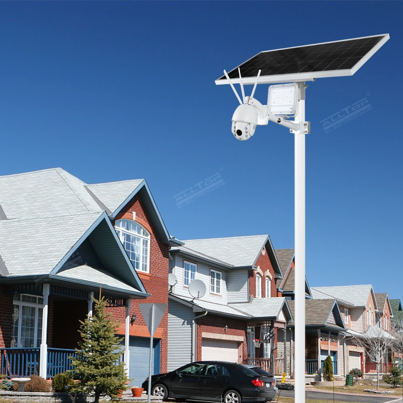 product-ALLTOP -ALLTOP Remote Wireless Control 80w Solar Flood Light With Wifi CCTV Camera-img-1