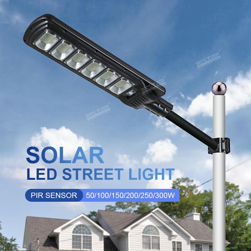 ALLTOP Factory Wholesale Road Lighting 50w 100w 150w 200w 250w 300w Solar LED All In One Street Lamp