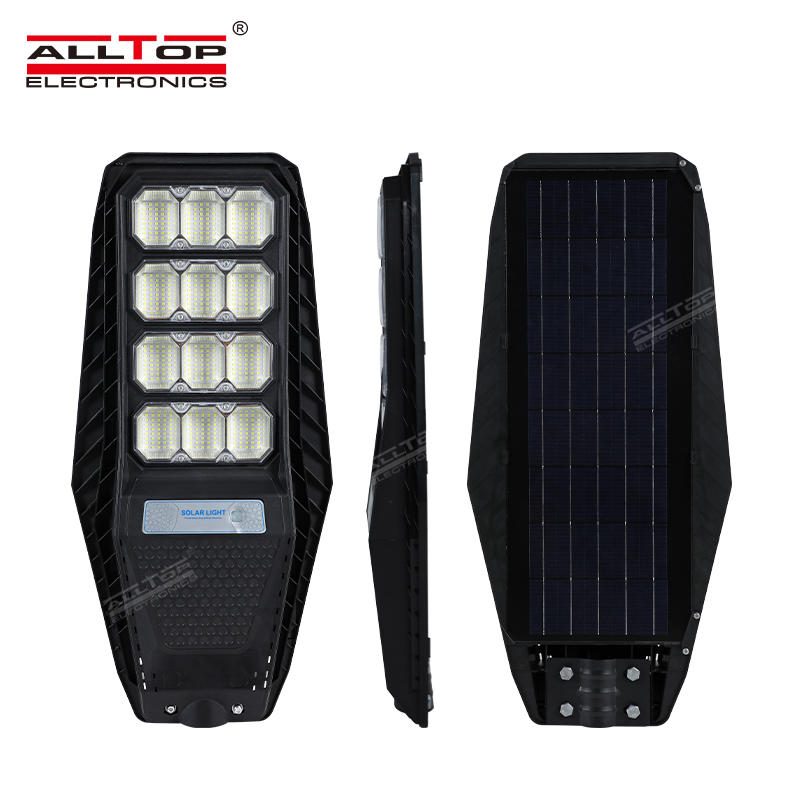ALLTOP Outdoor Waterproof Lighting IP65 ABS Integrated All In One Solar Led Street Light