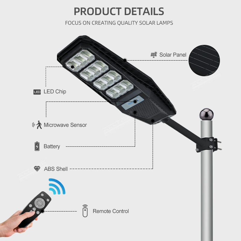 product-ALLTOP Outdoor Waterproof Lighting IP65 ABS Integrated All In One Solar Led Street Light-ALL-1