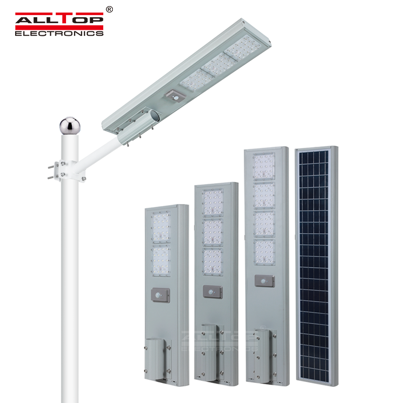 ALLTOP Hot products all in one die-cast aluminum outdoor solar lights