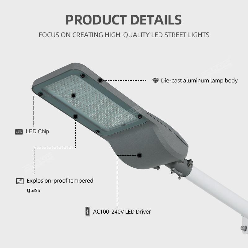 product-ALLTOP IP65 waterproof outdoor lighting aluminum LED street light road lighting-ALLTOP -img-1