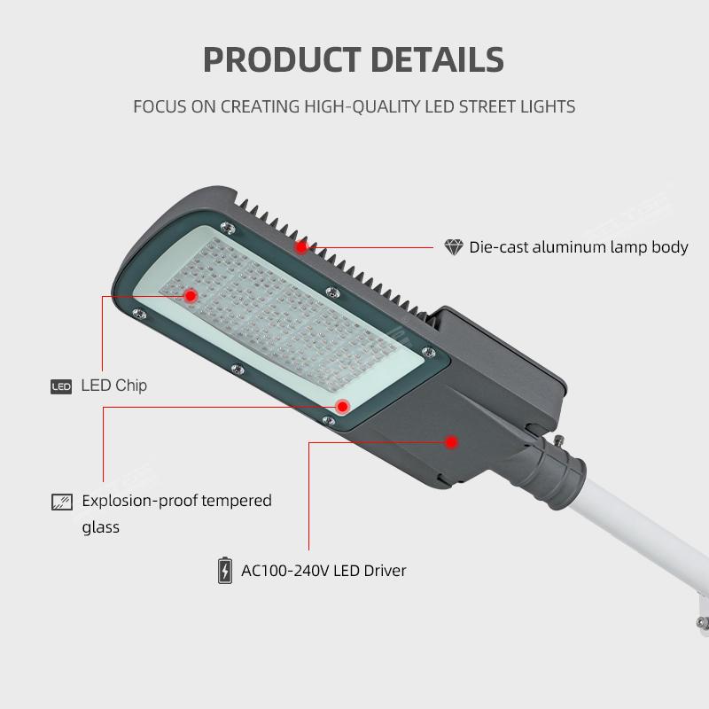 ALLTOP High Power Outdoor Waterproof Ip65 100W 150W 200W 250W LED Street Light