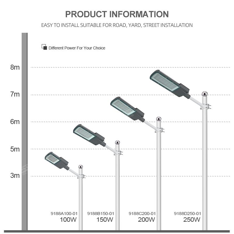 product-ALLTOP -ALLTOP High Power Outdoor Waterproof Ip65 100W 150W 200W 250W LED Street Light-img-1