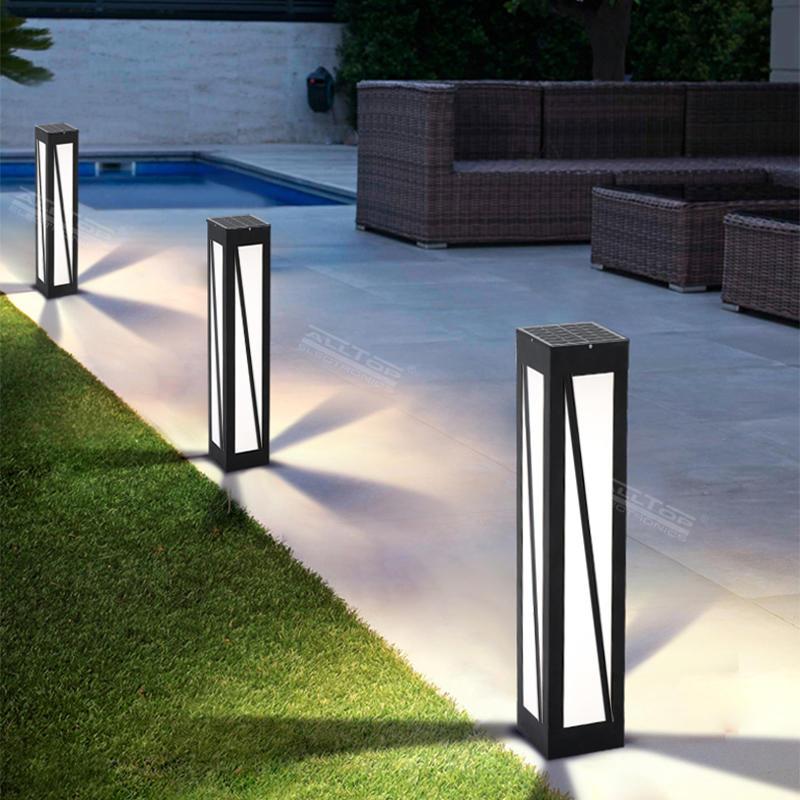 ALLTOP high quality lawn decoration bollard outdoor waterproof IP65 solar garden light