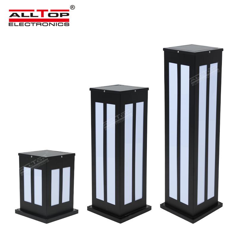 ALLTOP hot sale IP65 waterproof lawn decorative pole outdoor led solar garden light