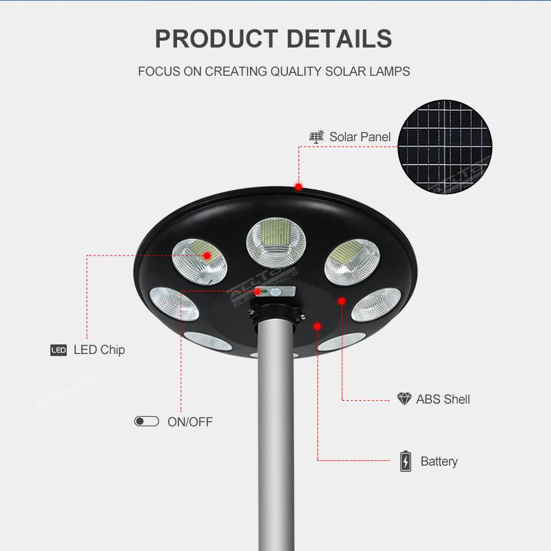 product-ALLTOP Outdoor waterproof IP65 microwave motion sensor street light LED solar garden light-A-1