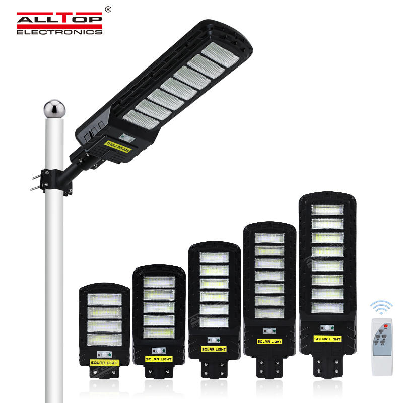 ALLTOP High Quality Security Outdoor Ip65  All In One Led Solar Street Light