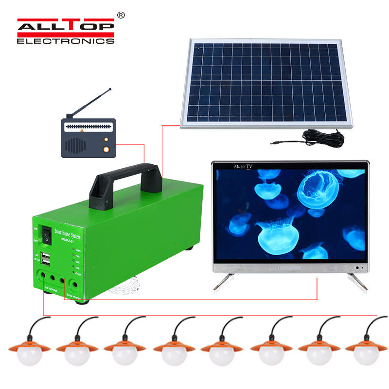ALLTOP -Solar Lighting System Solar Energy Powered 10w Solar System-2
