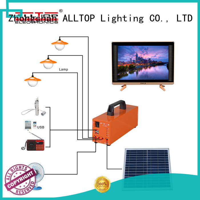 ALLTOP outdoor mini portable led lighting 20W 30W panel solar system home