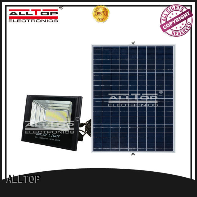 folding solar powered motion flood lights OEM for stadium