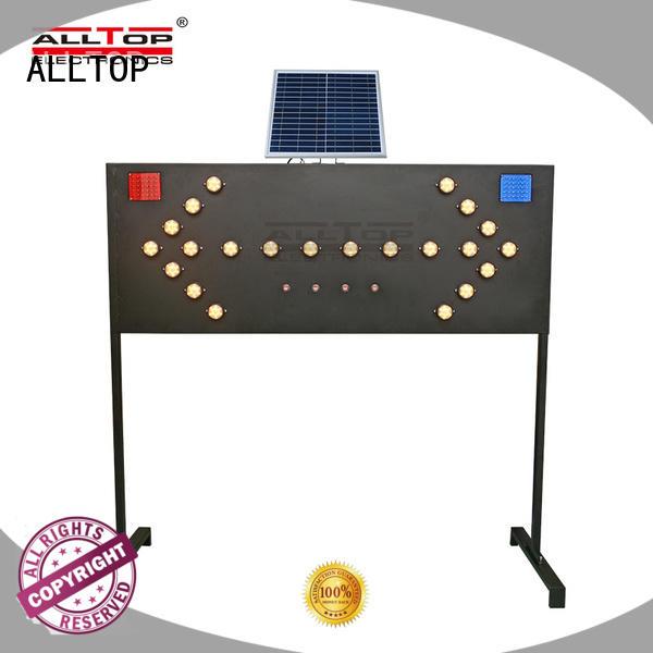 solar powered traffic lights warning double solar ALLTOP Brand solar traffic light