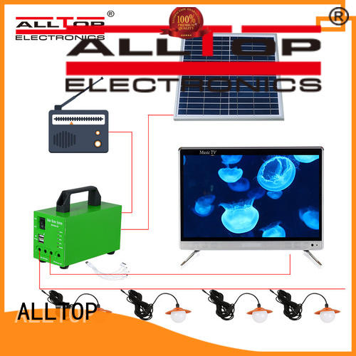 ALLTOP energy-saving 12v solar lighting system factory direct supply for camping