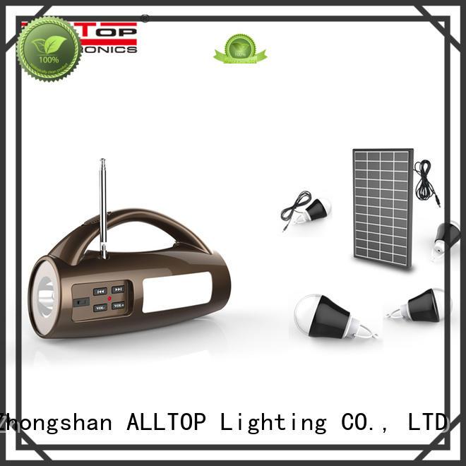 ALLTOP energy-saving solar lighting system free sample for home