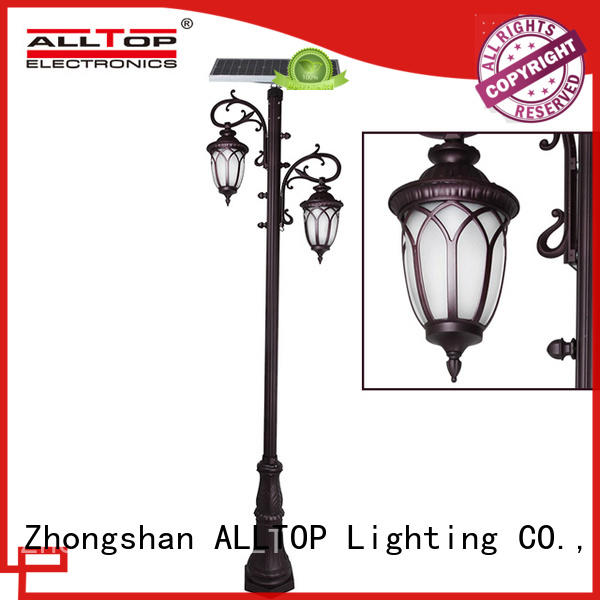 solar powered light post main gate for decoration ALLTOP