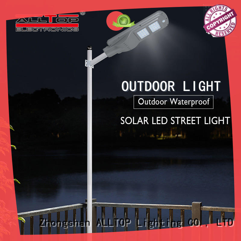 flood solar pole lights sensor for road ALLTOP