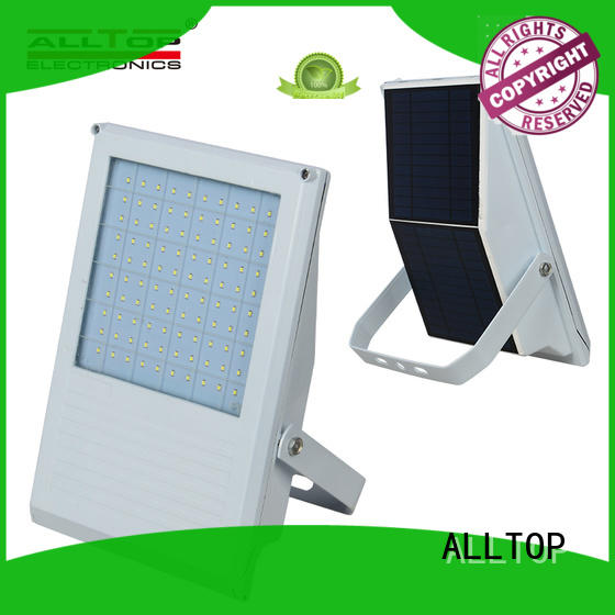 ALLTOP outdoor brightness solar powered flood light dusk to dawn aluminum alloy for spotlight