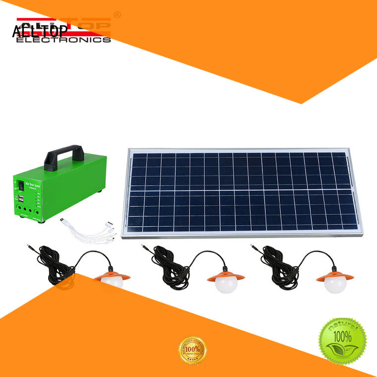 ALLTOP multi-functional solar panel system wholesale for outdoor lighting