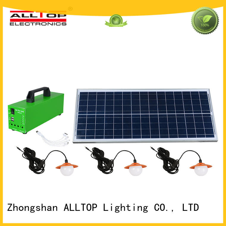 solar indoor energy solar led lighting system ALLTOP Brand company