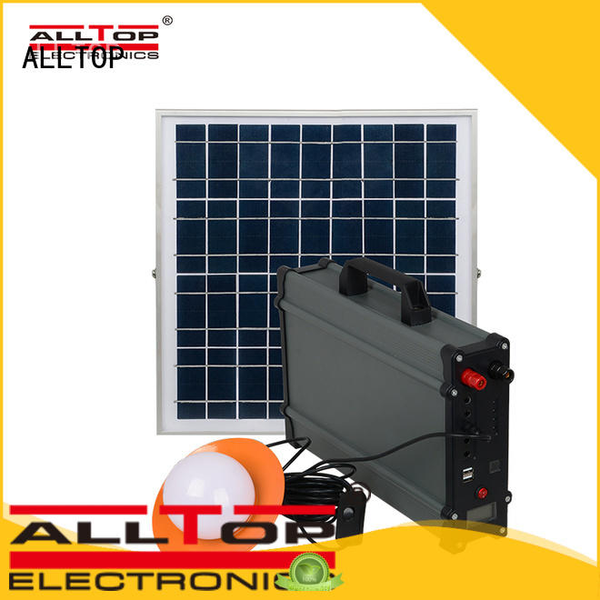 ALLTOP portable advantages of solar powered street lights supplier for battery backup